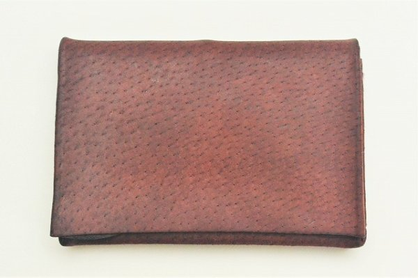 "画像1: m.a+ "" SMALL WALLET "" col.PIG LEATHER WINE(LIGHT)"