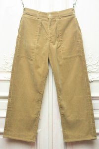 "TUKI "" patched work pants "" col.khaki (03)"