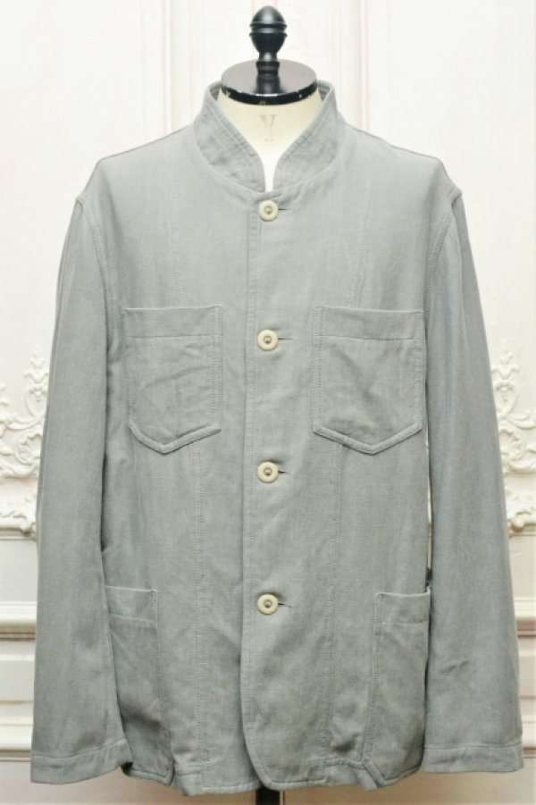 "画像1: CASEY CASEY "" JACKET - COTTON LINEN "" col.GREY"