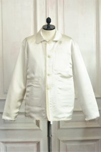 "CAMIEL FORTGENS "" WORKER JACKET - Silk ""  col.White"