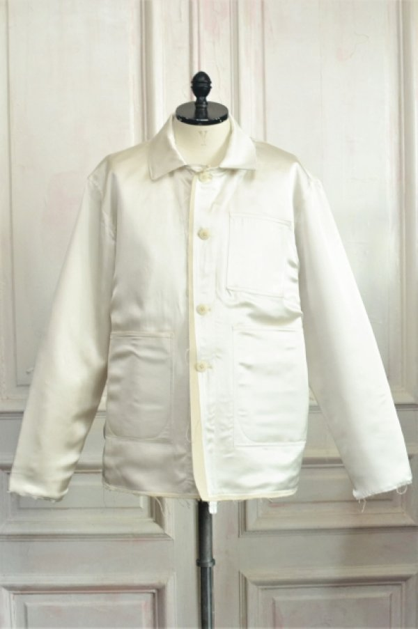 "画像1: CAMIEL FORTGENS "" WORKER JACKET - Silk ""  col.White"