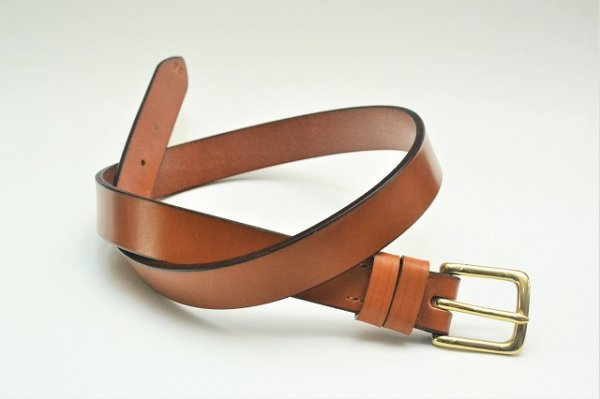 "画像1: JABEZ CLIFF "" Stirrup Leather Belt "" col.LONDON TAN"
