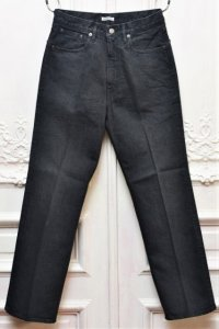 "AURALEE "" WASHED HARD TWIST DENIM 5POCKET PANTS "" col.LIGHT BLACK"