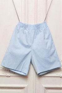 "CAMIEL FORTGENS "" KNEE SHORTS - Pinpoint Cotton ""  col.LIGHT BLUE"