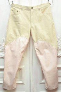 "KHOKI "" Cotton linen pants "" col.Beige × Pink"