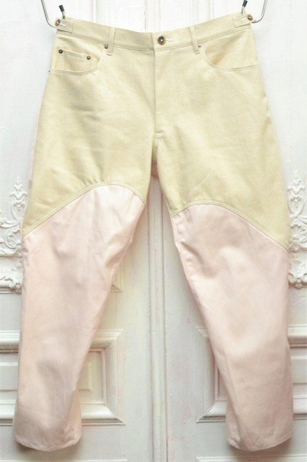 """画像1: KHOKI """" Cotton linen pants """" col.Beige × Pink"""