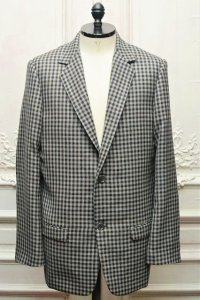 "CLASS "" Domino - Wool Basket Check "" col.Grey×Brown"