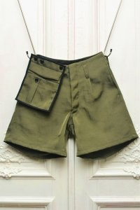 "amachi. "" Detachable Pocket Work Shorts "" col.Green"