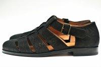 """F.lli Giacometti """" Fausto - Gurkha sandals """" col.Nero"""