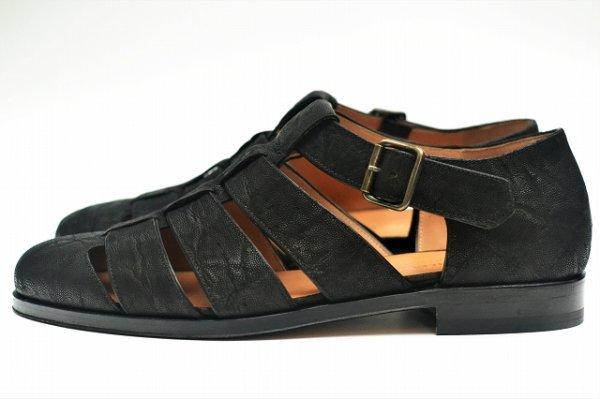 """画像1: F.lli Giacometti """" Fausto - Gurkha sandals """" col.Nero"""
