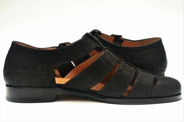 """画像2: F.lli Giacometti """" Fausto - Gurkha sandals """" col.Nero"""