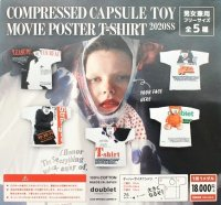 "doublet "" CAPSULE TOY COMPRESSED MOVIE POSTER T-SHIRT "" col.WHITE"
