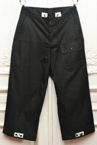"TUKI "" over pants - Cotton double gabardine "" col.black(09)"