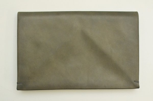 "画像2: m.a+ "" EXTRA LARGE WALLET "" col.COW LEATHER GREY 65"