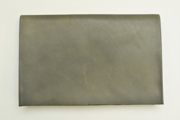 "画像1: m.a+ "" EXTRA LARGE WALLET "" col.COW LEATHER GREY 65"