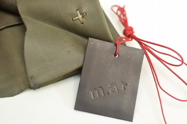 "画像5: m.a+ "" SMALL WALLET "" col.COW LEATHER GREY 65"