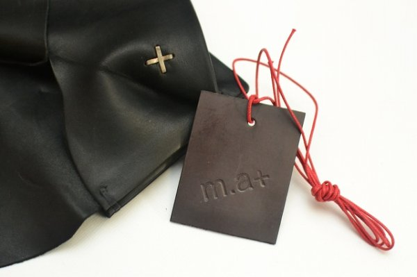 "画像5: m.a+ "" SMALL WALLET "" col.COW LEATHER BLACK"