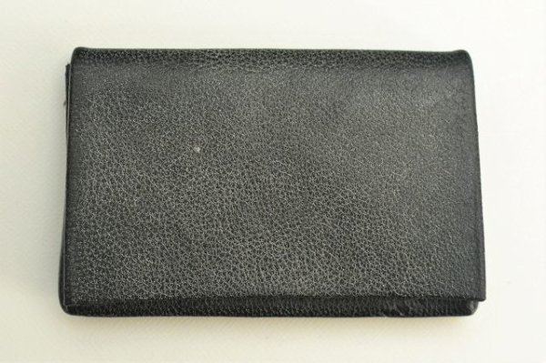 "画像1: m.a+ "" CARD WALLET "" col.CAMEL LEATHER COAL"