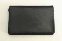 "m.a+ "" CARD WALLET "" col.COW LEATHER BLACK"