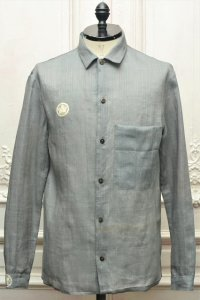 "m.a+ "" Med Fit Shirt 1 Front Pocket Sartor# "" col.ACQUA"