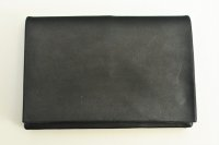 "m.a+ "" SMALL WALLET "" col.COW LEATHER BLACK"