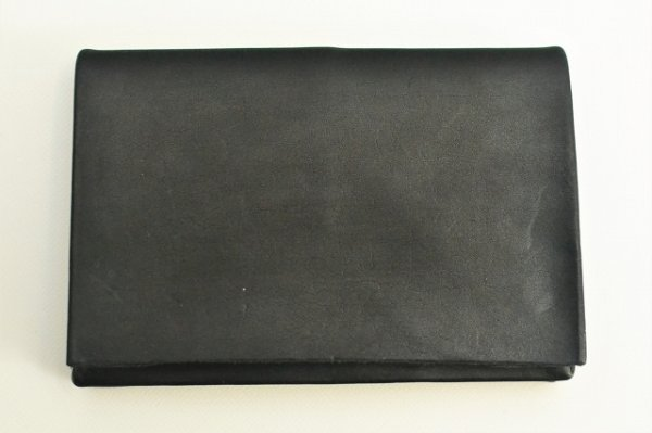 "画像1: m.a+ "" SMALL WALLET "" col.COW LEATHER BLACK"