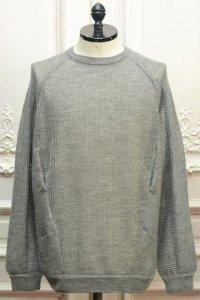 "ACRONYM "" Cashllama Silk Mesh Crewneck Sweatshirt "" col.Gray"