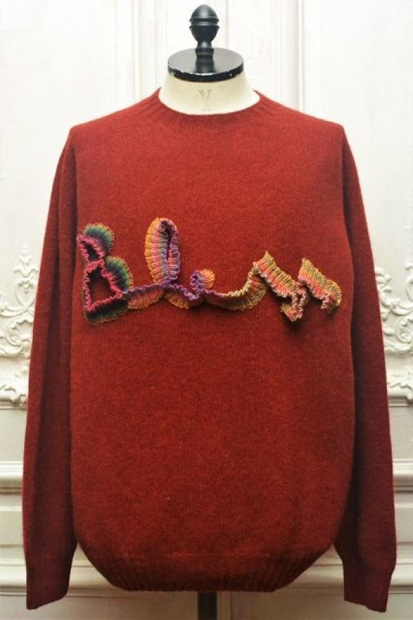"画像1: BLESS N゜68 "" BLESSlogoknit "" col.dirty red2, multirainbowcolors"