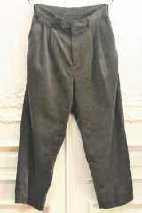 "stein "" EX Wide Tapered Trousers "" col.Concrete"