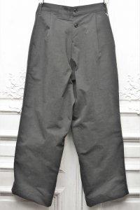 "TUKI "" reversed pants - heavy woolen melton / ring-spun combed cotton "" col.steel blue(34)"