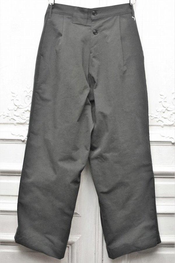"""画像1: TUKI """" reversed pants - heavy woolen melton / ring-spun combed cotton """" col.steel blue(34)"""