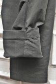 """画像5: TUKI """" reversed pants - heavy woolen melton / ring-spun combed cotton """" col.steel blue(34)"""