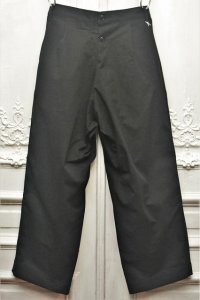 "TUKI "" reversed pants - heavy woolen melton / ring-spun combed cotton "" col.black(09)"