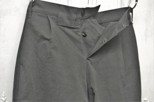 """画像2: TUKI """" reversed pants - heavy woolen melton / ring-spun combed cotton """" col.steel blue(34)"""