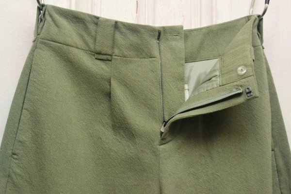 "画像2: toogood "" THE WRITER TROUSER - WOOL COTTON DRILL "" col.LICHEN"