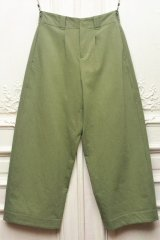 """toogood """" THE WRITER TROUSER - WOOL COTTON DRILL """" col.LICHEN"""