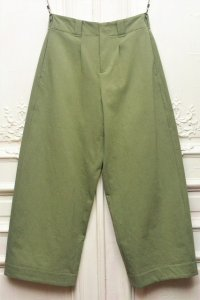 "toogood "" THE WRITER TROUSER - WOOL COTTON DRILL "" col.LICHEN"