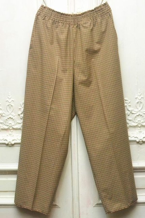 "画像1: CAMIEL FORTGENS "" Chu Chu Check Pants - Wool Cotton "" col.BROWN"