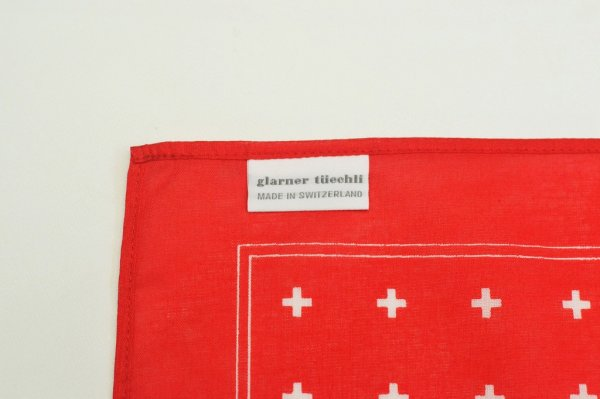"画像3: GLARNER TUECHLI "" Swiss Cross Bandana "" col.Red"