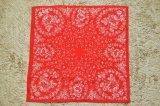 "GLARNER TUECHLI "" Rose Bandana - 70's Deadstock "" col.Red"