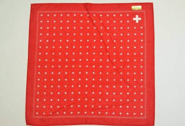 "画像1: GLARNER TUECHLI "" Swiss Cross Bandana "" col.Red"
