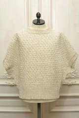 "amachi. "" Paesina Stone Knit Vest - mathematics exclusive "" col.Off White"
