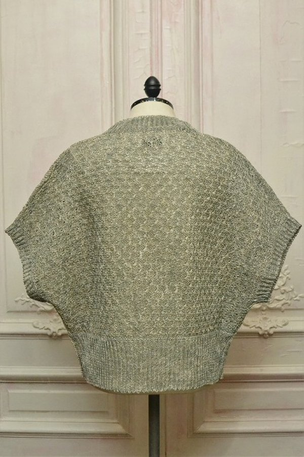 "画像4: amachi. "" Paesina Stone Knit Vest - mathematics exclusive "" col.Green Gray"