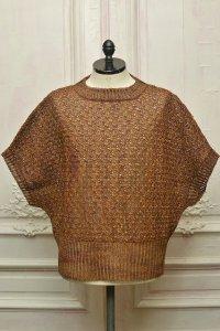 "amachi. "" Paesina Stone Knit Vest - mathematics exclusive "" col.Brown"