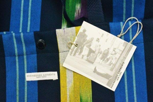 """画像3: Engineered Garments """" Cally All Tote - Cotton Ikat """" col.Blue/Green/Yellow"""
