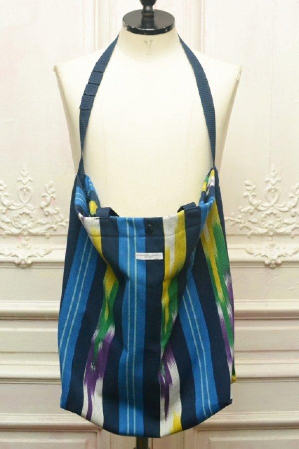 """画像1: Engineered Garments """" Cally All Tote - Cotton Ikat """" col.Blue/Green/Yellow"""