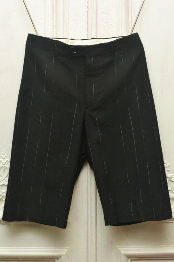 "画像1: CLASS "" Nikolaschka - Wool Kasuri Stripe Washed Finish  "" col. BLACK"