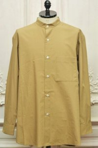 "Cristaseya  "" Light Cotton Mao Shirt "" col.L.Khaki"