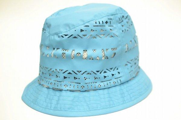 """画像2: KIJIMA TAKAYUKI """" Cut Shape Hat - Nylon """" col.Turquoise"""