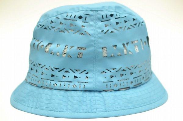 """画像1: KIJIMA TAKAYUKI """" Cut Shape Hat - Nylon """" col.Turquoise"""